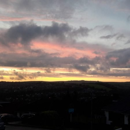 Image of a sunset over fields illustrating the the Fairisle article Dealing with uncertainty